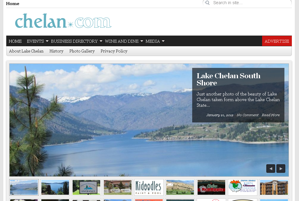 chelan.com Lake Chelan Washington
